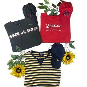 Vintage Polo Ralph Lauren T Shirt Lot Sale XL